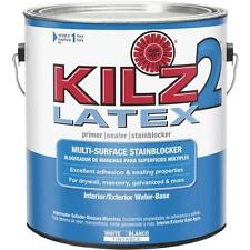 2-KILZ 2 Latex 1 Gal White Interior/Exterior Stain Blocking Primer Paint  20041