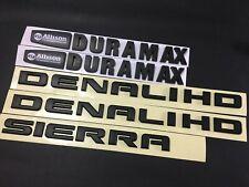 5PCS NEW 11-19 Matte Black GMC Sierra Denali Duramax 2500HD 3500HD Badges Emblem