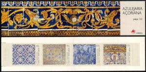 Azores 1994 Art, Azulejaria Tiles, Complete Booklet, Portugal UNM / MNH