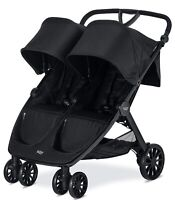 Britax B-Lively Lightweight Quick Fold Twin Baby Double Baby Raven NEW
