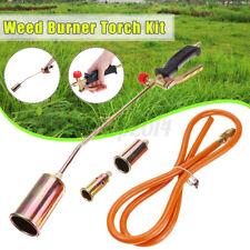 Portable Propane Weed Burner Torch Kits Garden Grass Shrub Killer with 3 Nozzles