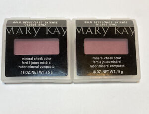Mary Kay Bold Berry Mineral Cheek Color Blush Full Size - LOT of 2