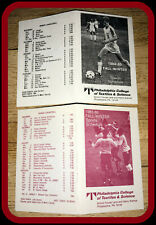 LOT OF 2 DIFFERENT PHILADELPHIA COLLEGE FALL & WINTER POCKET SCHEDULES 1984 & 85
