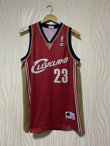 CLEVELAND CAVALIERS BASKETBALL SHIRT JERSEY NBA LEBRON JAMES #23 sz L MEN RED