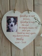 Personalised Photo Memorial Pet Plaque
