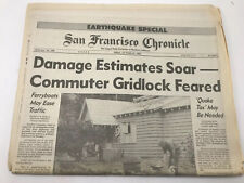 San Francisco Chronicle Newspaper 1989 Earthquake Special Edition October 20