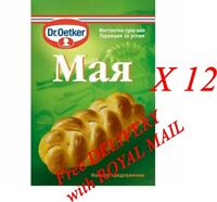 12 x 7 g. INSTANT Dried Yeast Dr Oetker for Bread Cake Deserts and Baking Fast A