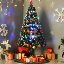 5' Artificial Pre-lit Fiber Christmas Tree Optic 180 LED Lights & Stand Decorate