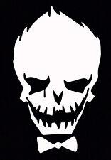 White Joker Decal Car Sticker Laptop Dc Comics Harley Quinn Suicide Squad
