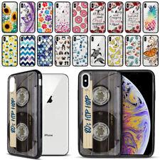 "For Apple iPhone XS Max 6.5"" Hybrid Hard TPU Black Bumper Case Phone Cover"