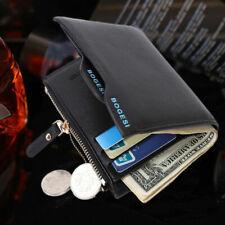 Hombres Cuero Billetera Monedero titulares de tarjetas de crédito cartera doble pliegue Billetera de bolsillo