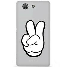Coque Housse Etui Sony Xperia Z3 Compact à motif Silicone Gel - Swag hand blanc