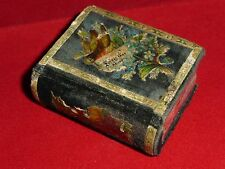 Very Rare & Beautiful Antique Victorian Book Shaped Sewing Needle Case Box c1870
