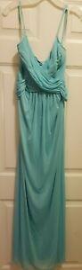 Davids Bridal Blue Dress sz 8 Unaltered,