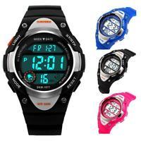 SKMEI Digital Watch Sports Watches Boy Girls LED Alarm Stopwatch Silicone Straps