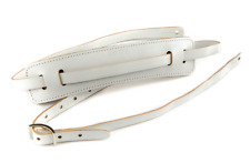 Genuine Gretsch White Leather Vintage Strap for Guitar/Bass 922-0664-005