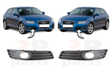 FOR AUDI A3 08-12 NEW FRONT BUMPER LOWER GRILLE WITH FOG LIGHT HOLE PAIR SET
