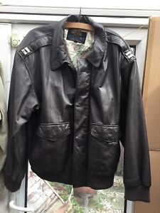 US Type A2 Leather Flight Jacket,Army/Airforce California American Born REDUCED!