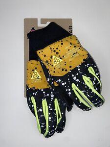 Nike Lab ACG Men's Shield Running Gloves Yellow/Black/Volt Size L NRGM2912