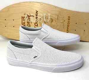 Sneakers Men's VANS Classic Slip On Perforation Leather White  VN000XG8DJ7