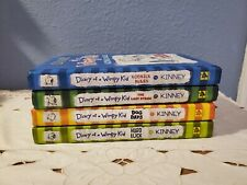 4 Diary Of A Wimpy Kid Hardcover Books 2 3 4 & 8 Dog Days Hard Luck Last Straw +