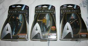 Star Trek (Kelvin Timeline) Galaxy Collection Nero, Pike, Spock - Playmates Toys