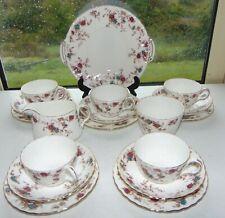 Minton English Bone China Ancestral Pattern 18 PC Cups Saucers Plates Jug Bowl