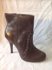 Jasper Conran Brown Ankle Leather Boots Size 5