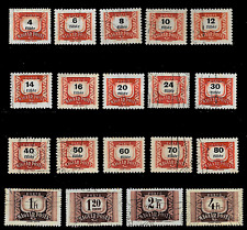 HUNGARY 1965-1969  Postage Due 19 Stamps Used