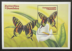 DOMINICA BUTTERFLY STAMPS SS 2000 MNH BUTTERFLIES SLOANES URANIA WILDLIFE INSECT