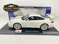 Maisto 1:18 Scale Special Edition Diecast Model - Porsche 911 GT3 RS 4.0 White