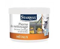 STARWAX PIERRE BLANCHE NETTOYAGE 300 GR cuisine PVC alu inox chrome cuivre argen