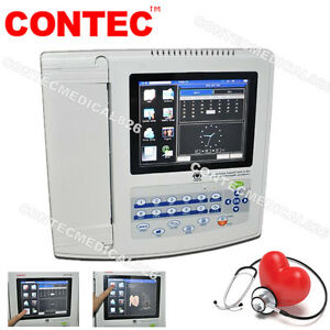 Touch Resting Electrocardiograph EKG/ECG machine 12 channel 12 Leads+SW,Printer