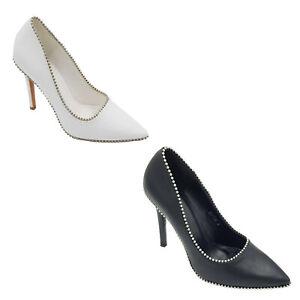 Footwear Sale Women smart shoe high heel shoe dressing metallic pearls Stud Size