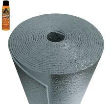 Vehicle Car Automotive Insulation Heat Sound Deadener Foam + Adhesive 20sqft