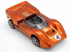 Hot Wheels Redlines Orange Mclaren M6A Great Paint!