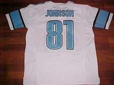 Nike Field NFL NFC Central Detroit Lions Calvin Johnson 81 White Blue Jersey 52