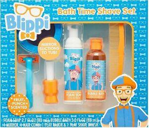 Blippi Bath Time Shave Set Fruit Punch Scented 6 Piece Set. New