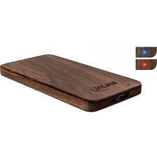 Woodplate USB Akku Powerbank 5.000mah Echtholz Walnuss