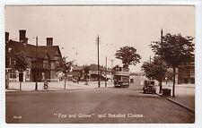 """FOX AND GOOSE"" AND BEAUFORT CINEMA: Birmingham postcard with tram (C11079)"