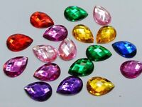 250 x High Quality Teardrop / Pear Rhinestones Beads 8mm x 5mm ~BUY 3 GET 1 FREE