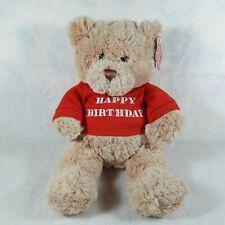"""Gotta Getta Gund Happy Birthday Teddy Bear Plush Doll Stuffed Animal 12"""" New&Tag"""