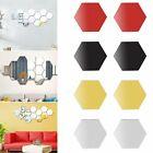 12pcs 3D Hexagon Acrylic Mirror Wall Stickers Home Room DIY Art Removable Decor