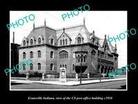 OLD 8x6 HISTORIC PHOTO OF EVANSVILLE INDIANA THE US POST OFFICE BUILDING c1910