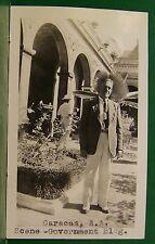 1937 OLD PRESIDENTS HOME CARACAS VENZUELA SOUTH AMERICA S.S. ROTTERDAM PHOTO