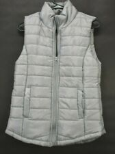 Rue21 Women's Medium Polyester Puffer Vest Sleeveless Jacket Full Zip Gray