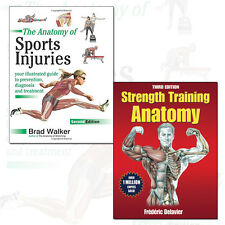 Strength Training Anatomy and Anatomy of Sports Injuries 2 Books Collection Set