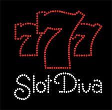 Slot Diva Rhinestone iron on Bling Transfer DIY Hot fix sparkly  Applique 777
