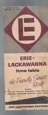 Erie-Lackawanna 1962 Train Time Table Railroad Friendly Service Route