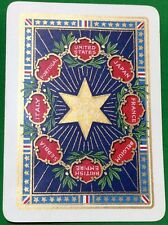 Playing Cards 1 Single Swap Card - Old Antique Wide WW1 PEACE Military Allies
